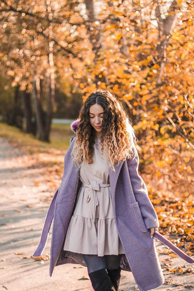 kolorowa dusza blogger coat dress tights shoes