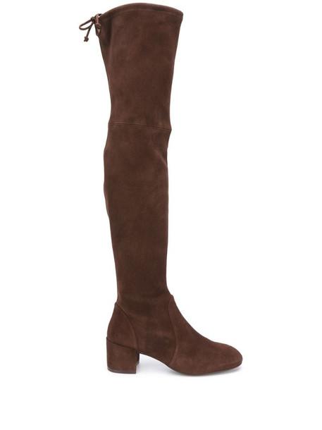 Stuart Weitzman Odene over the knee boots in brown