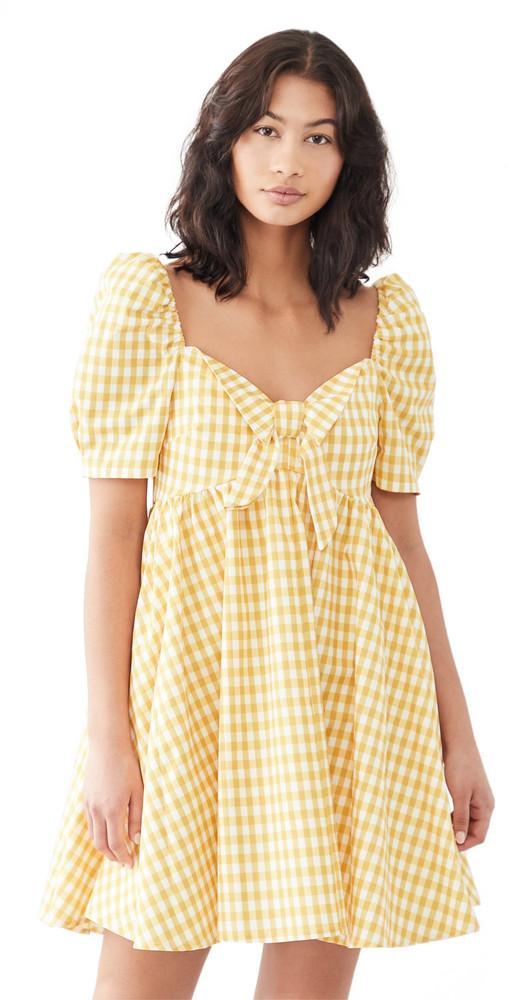 OPT Picnicker Dress in yellow
