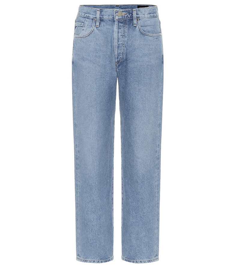 Goldsign The Relaxed Straight mid-rise jeans in blue