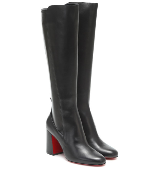 Christian Louboutin Kronobotte knee-high leather boots in black