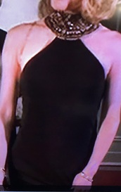 dress,evening formal dress with necklace open shoulder