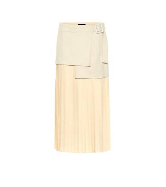 Joseph Billie Bouclé Fuji silk midi skirt in beige