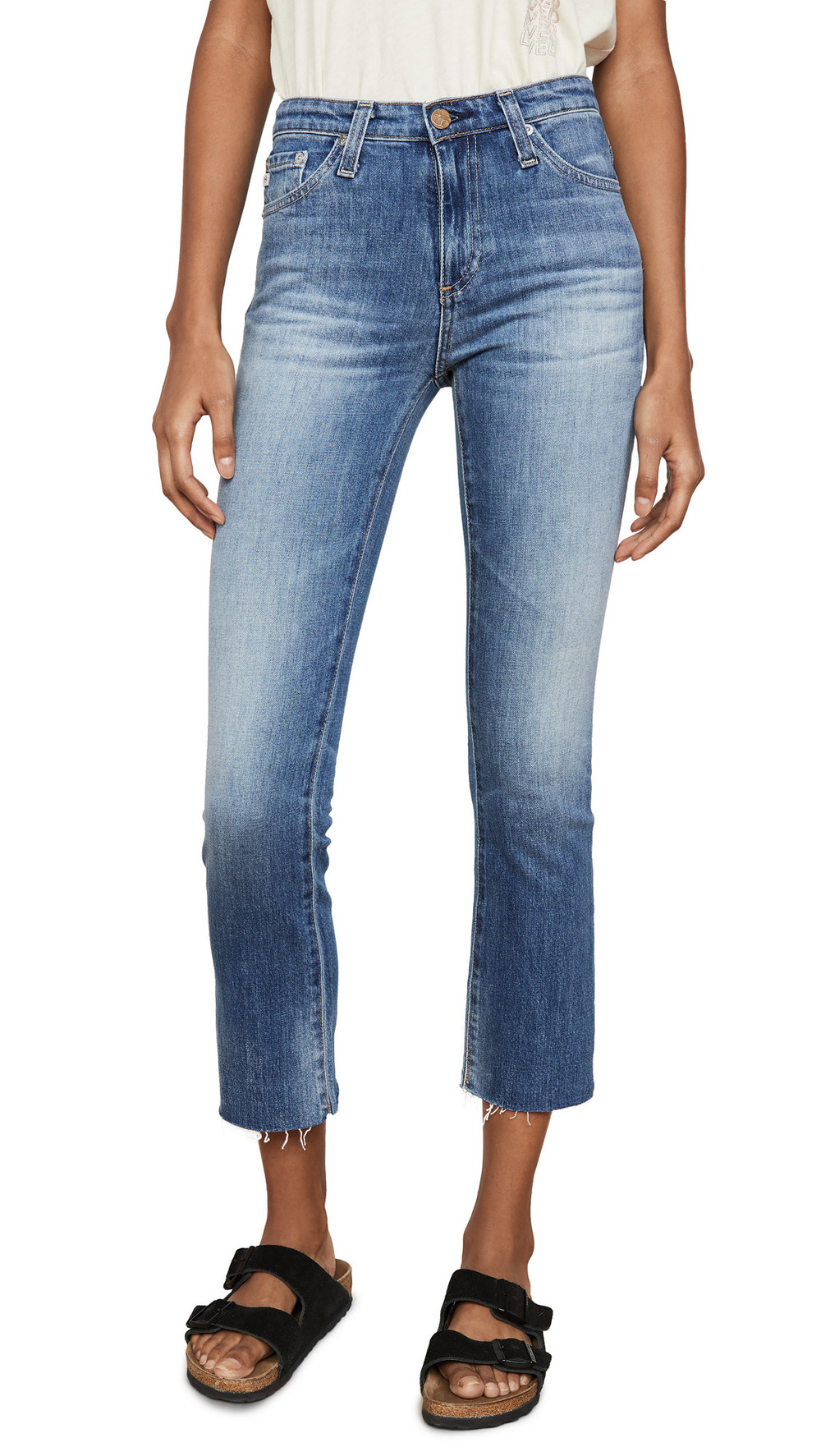 AG The Jodi Slim Flare Crop Jeans in blue