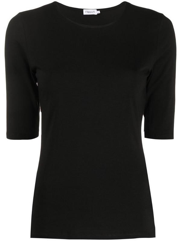 Filippa K half-sleeve T-shirt in black