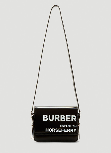 Burberry Small Horseferry Print Shoulder Bag in Black size One Size