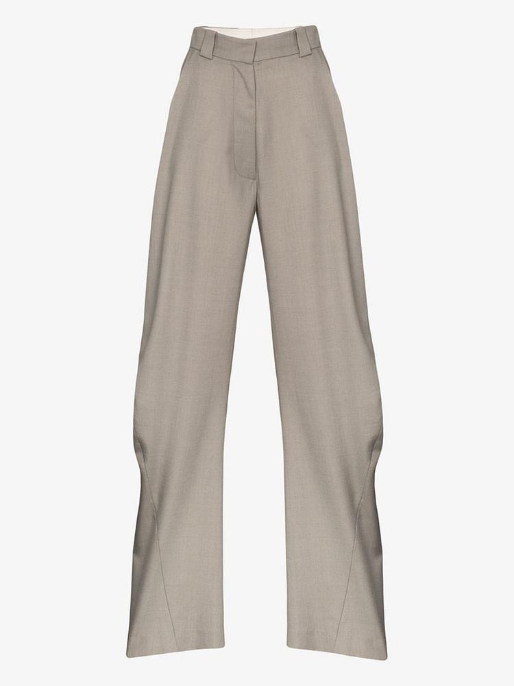 EFTYCHIA wide leg trousers in grey