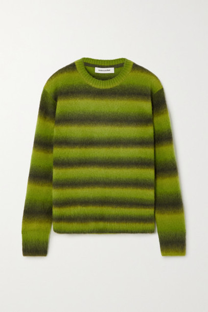 Andersson Bell - Striped Knitted Sweater - Bright green