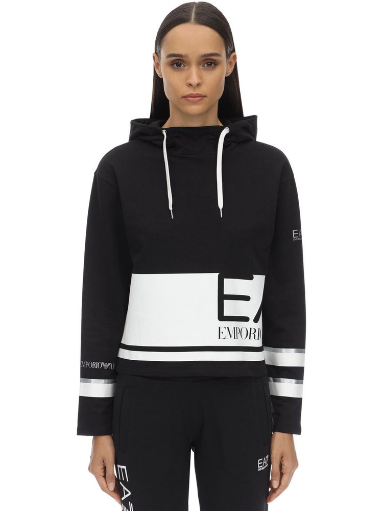 EA7 EMPORIO ARMANI Cotton Sweatshirt in black