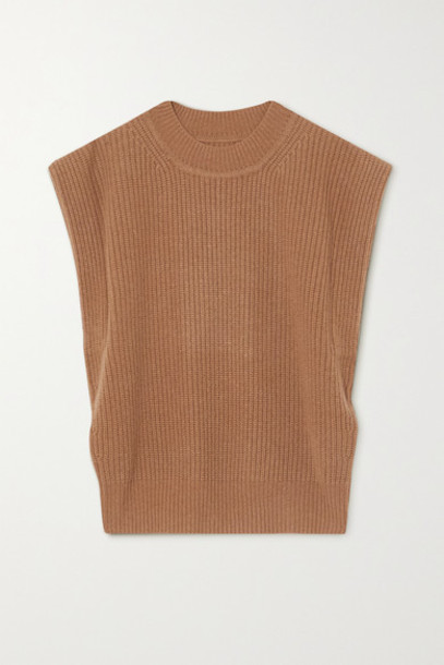Isabel Marant - Bridget Ribbed Cashmere And Wool-blend Sweater - Camel