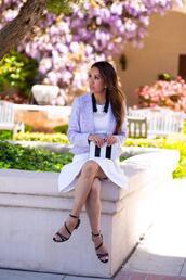 stylish petite,blogger,dress,belt,jacket,shorts,shoes,bag,jewels