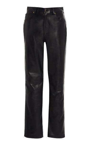 Khaite Victoria Leather Pants Size: 4 in black