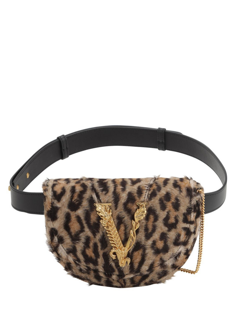 VERSACE Leopard Printed Belt Bag