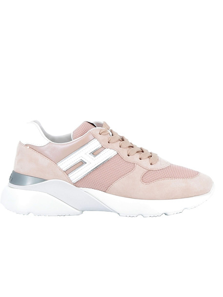 Hogan Pink Leather Sneakers