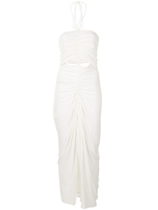 Dion Lee gathered necklace maxi dress in white