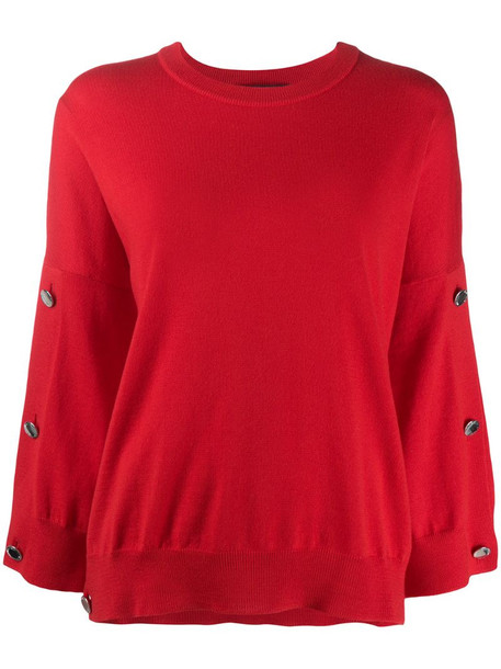 Boutique Moschino long-sleeve knitted jumper in red
