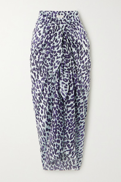 On The Island By Marios Schwab - Leopard-print Cotton-gauze Pareo - Leopard print