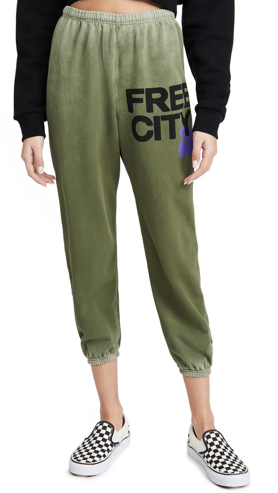 FREECITY Lets Go Free City Super Vintage Sweatpants in green
