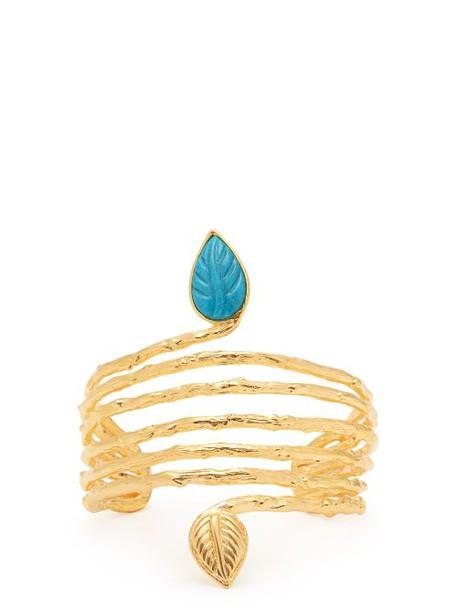 Aurélie Bidermann - True Blue 18kt Gold Plated Cuff - Womens - Gold