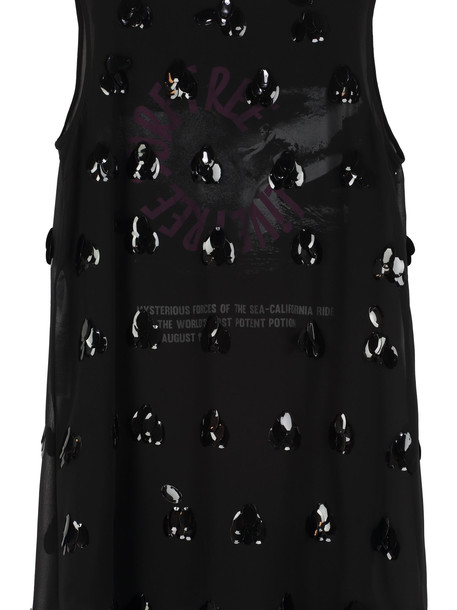 McQ Alexander McQueen Sleeveless Dress With Sequins in black