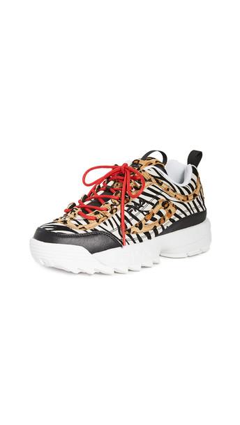 Fila Disruptor II Animal Sneakers in black / white / multi