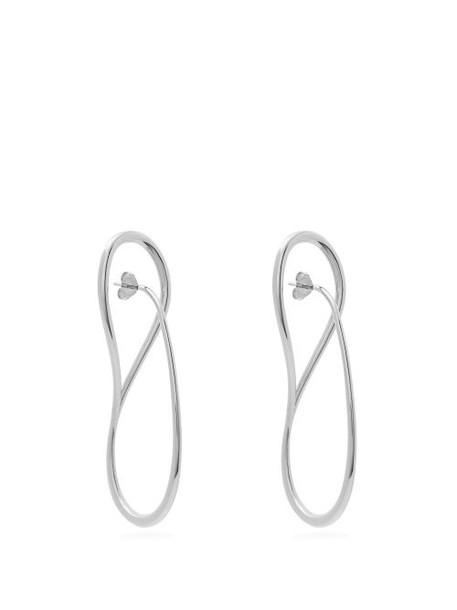 Charlotte Chesnais - Needle Sterling Silver Earrings - Womens - Silver