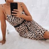 dress,leopard print,mini,party,silk,print