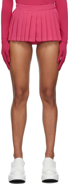 Pushbutton SSENSE Exclusive Pleated Mini Skort in pink