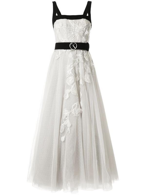 Saiid Kobeisy embellished floral maxi dress in grey