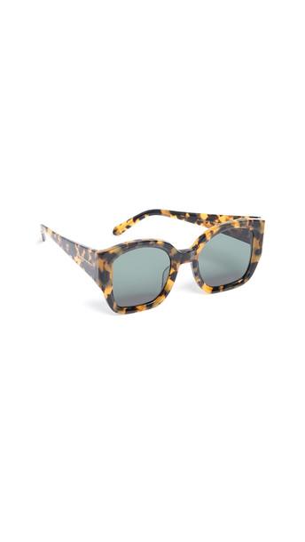 Karen Walker Alternative Fit Check Mate Sunglasses in green