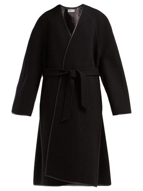 Balenciaga - Belted Wool Cocoon Coat - Womens - Black