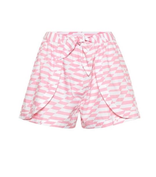 Alexandra Miro Bella printed cotton shorts in pink