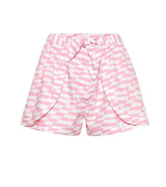 Alexandra Miro Bella printed cotton shorts in pink