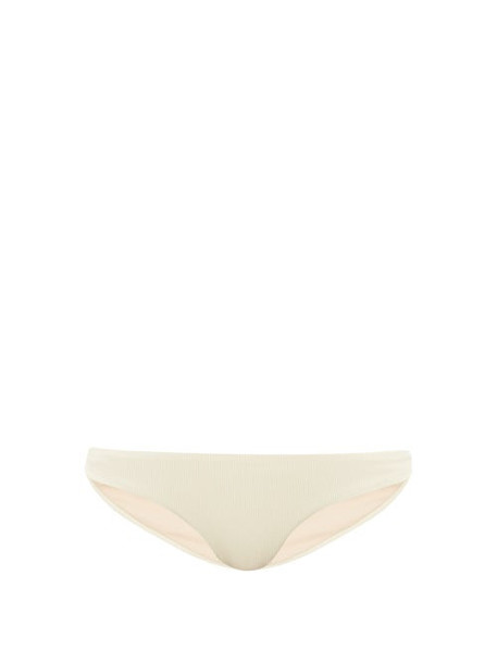 Jade Swim - Most Wanted Ribbed Jersey Bikini Briefs - Womens - Ivory