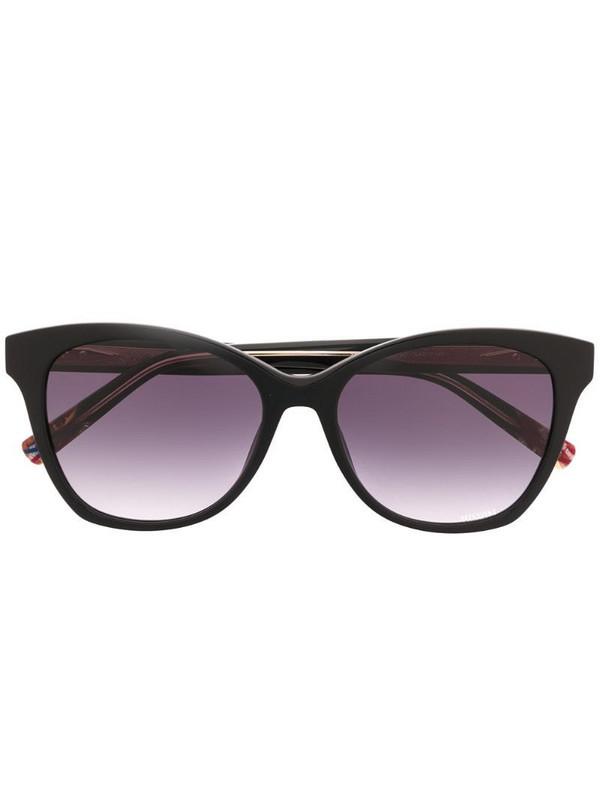 MISSONI EYEWEAR tinted square frame sunglasses in black