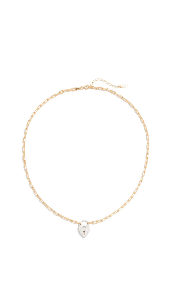 Maison Irem Vintage Heart Locket Choker Chain in gold