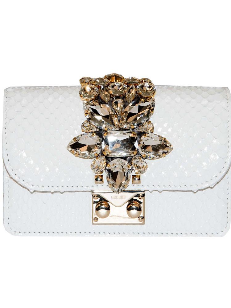 Gedebe Embellished Shoulder Bag in white