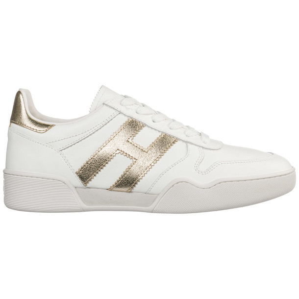 Hogan Shoes Leather Trainers Sneakers H357 in bianco