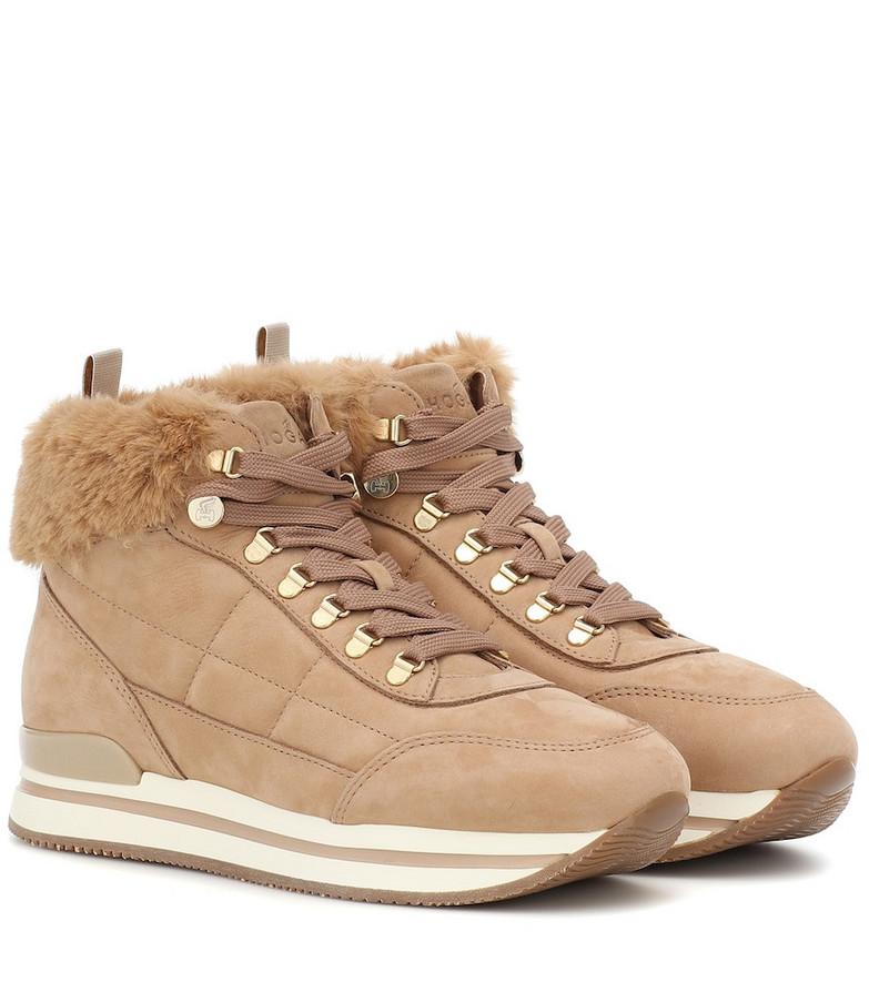 Hogan H222 nubuck sneakers in beige