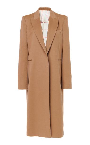 Victoria Beckham Cape-Effect Wool-Felt Coat Size: 6