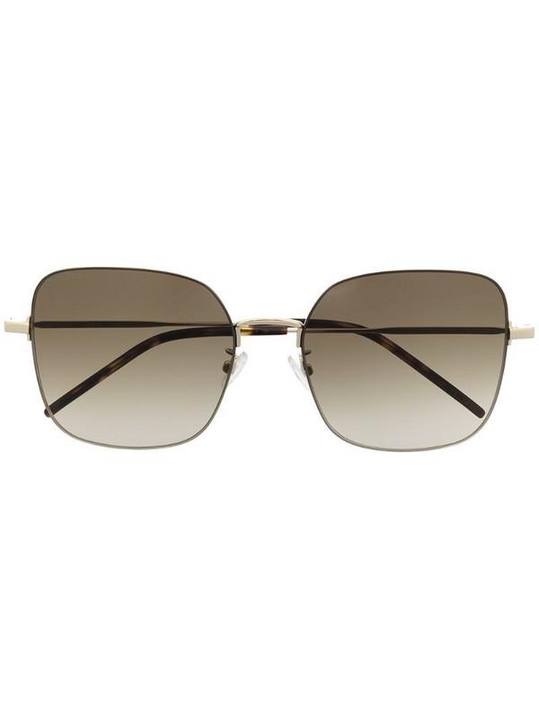 Saint Laurent Eyewear SL410 Wire square-frame sunglasses in gold