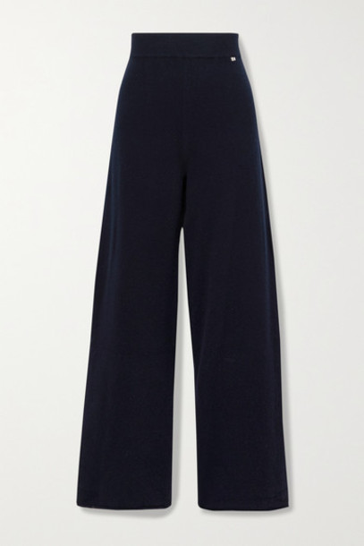 Extreme Cashmere - N°104 Cashmere-blend Track Pants - Midnight blue
