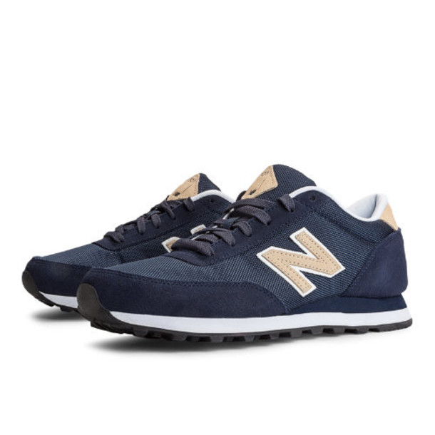 New Balance Backpack 501 Men's Running Classics Shoes - Navy, Tan, White (ML501BNV)