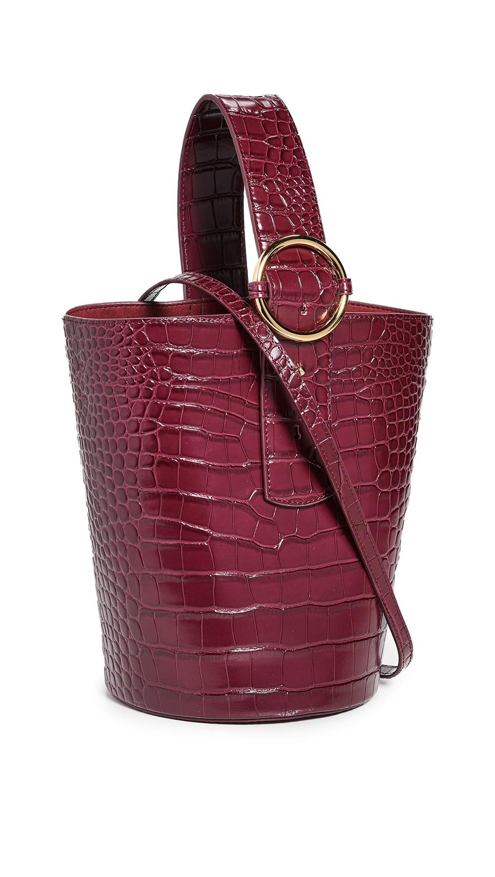 Parisa Wang Addicted Bucket Bag in burgundy
