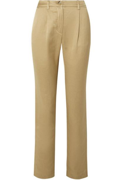 ARJÉ ARJÉ - Linen-blend Twill Straight-leg Pants - Beige