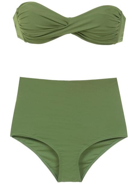 Amir Slama plain bikini set in green