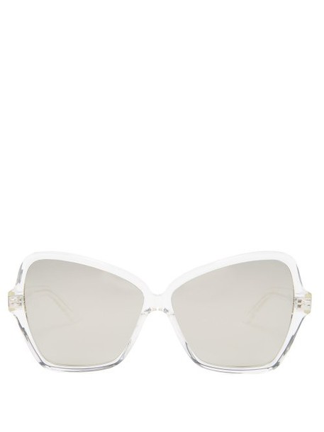 Celine Eyewear - Oversized Butterfly Acetate Sunglasses - Womens - Silver
