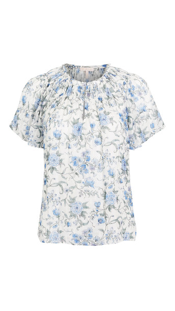 Rebecca Taylor Sleeveless Esmee Floral Top