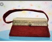 bag,1950s box purse,vintage,velevet