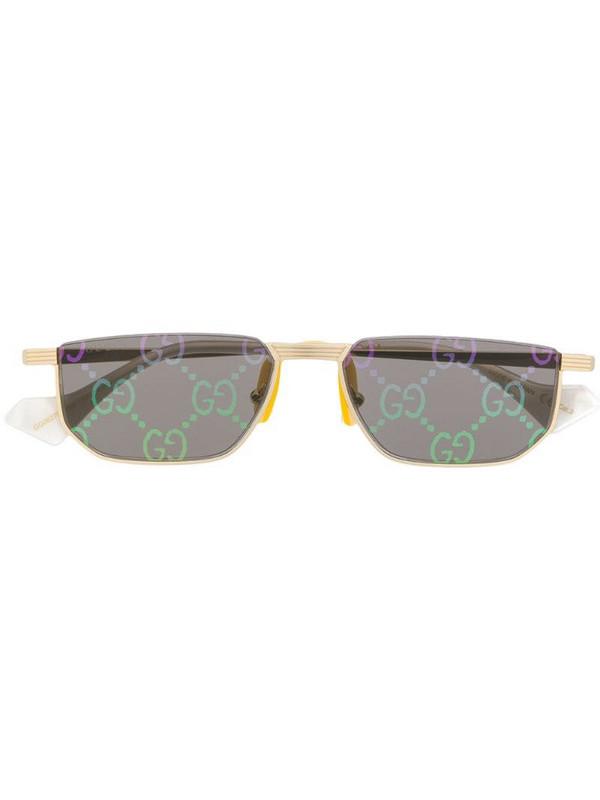 Gucci Eyewear GG motif lensed sunglasses in gold